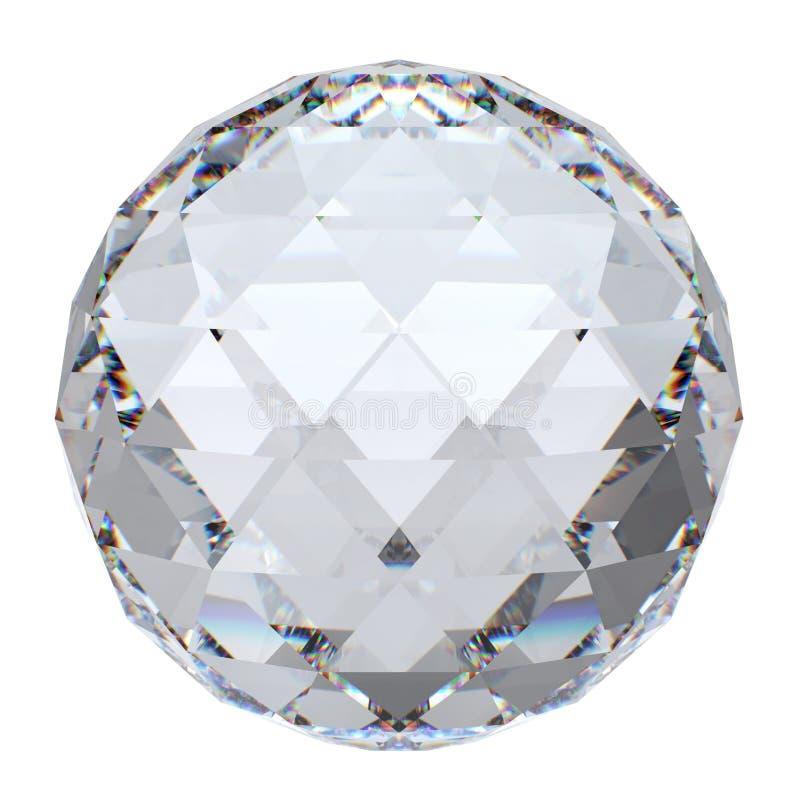De close-up van de kristallen bol met bezinning royalty-vrije stock afbeelding