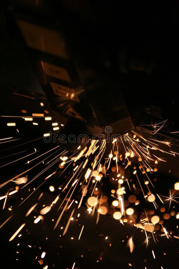 De close-up van de laser royalty-vrije stock fotografie