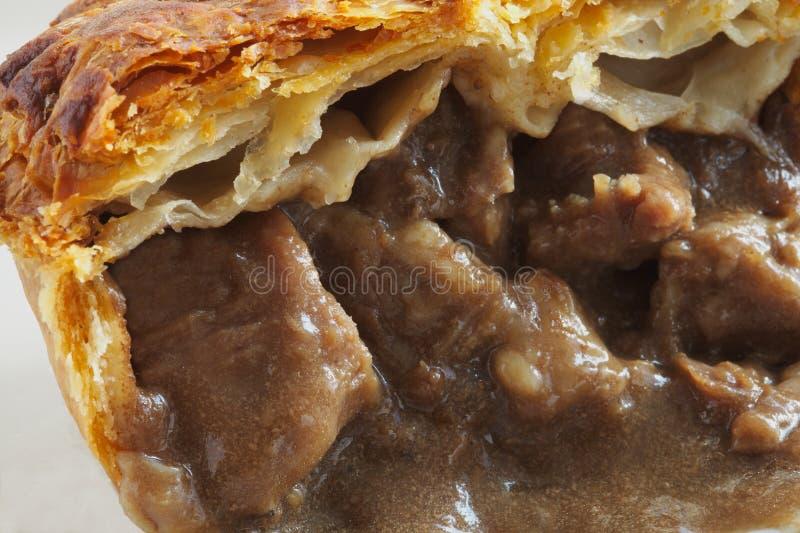 De Close-up van de Pastei van het Lapje vlees van het rundvlees royalty-vrije stock afbeeldingen