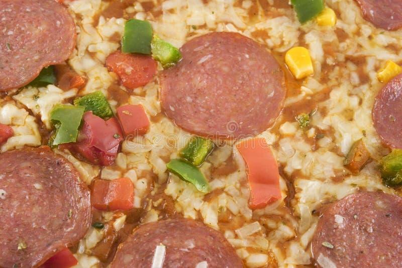 De close-up van de pizza royalty-vrije stock afbeeldingen