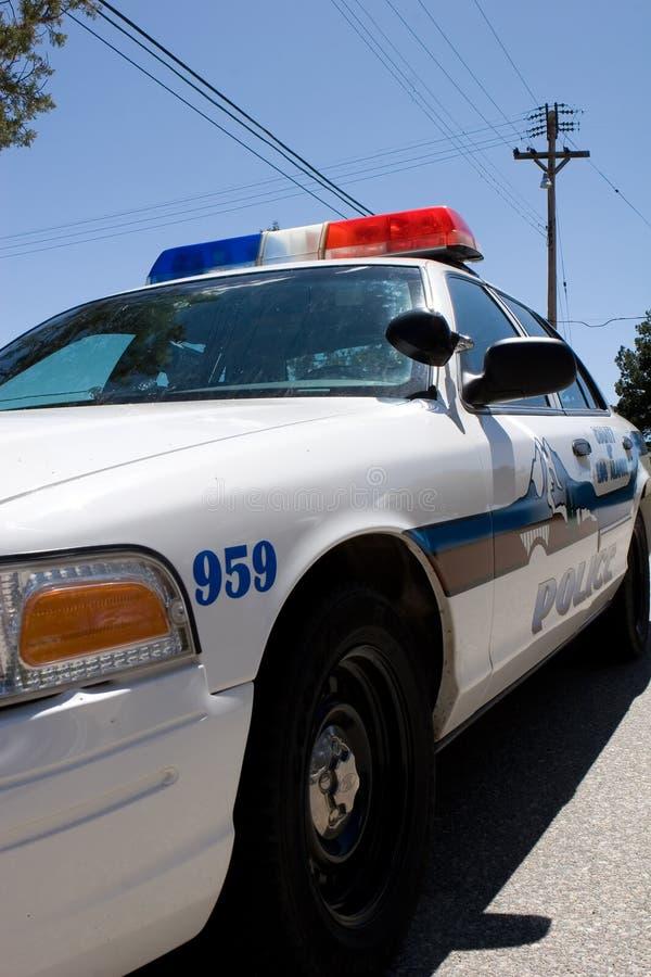 De close-up van de politiewagen stock afbeeldingen