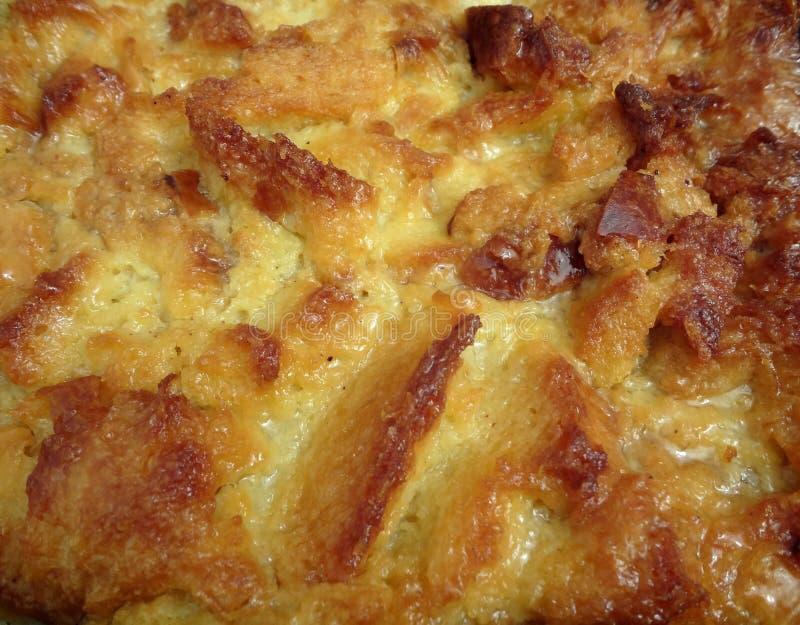 De Close-up van de Pudding van het brood royalty-vrije stock foto's