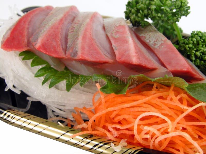 De close-up van de sashimi stock afbeelding