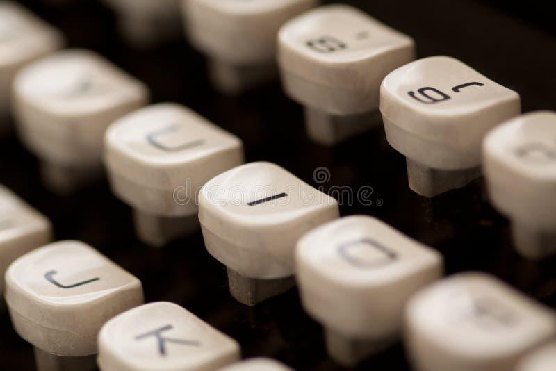 De Close-up van de schrijfmachine stock fotografie