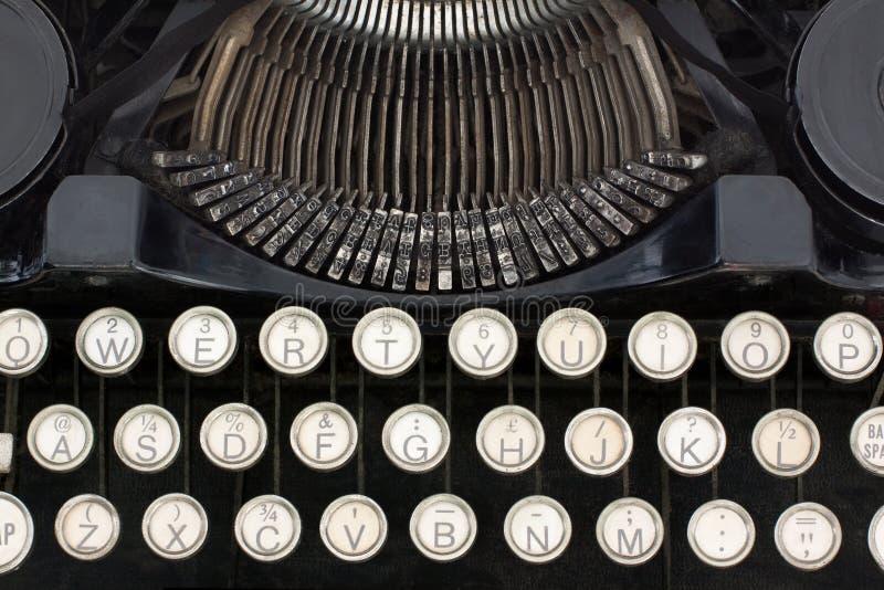 De Close-up van de schrijfmachine stock afbeeldingen