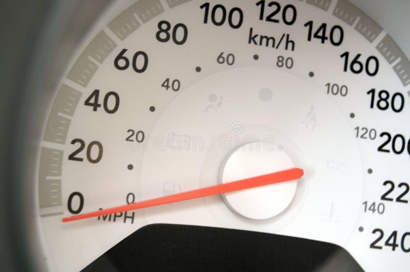 De close-up van de snelheidsmeter stock afbeelding