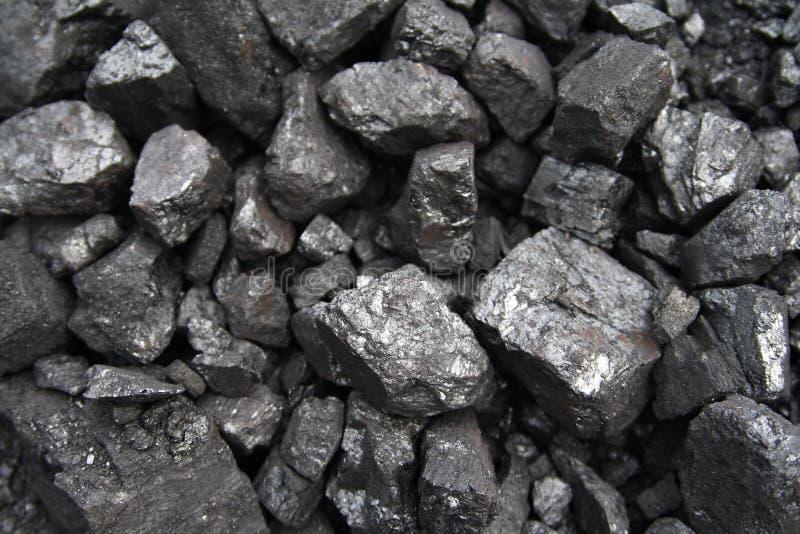De close-up van de steenkool stock foto's