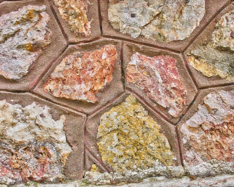 De close-up van de steenmuur stock afbeelding