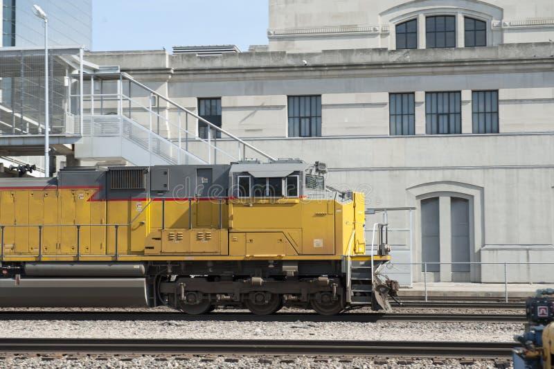 De close-up van de treinmotor royalty-vrije stock fotografie