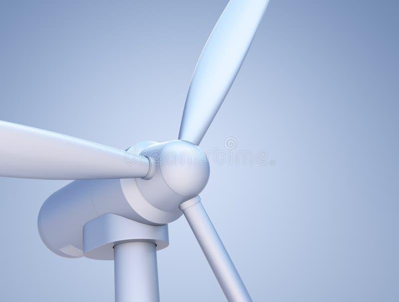 De close-up van de Turbine van de wind (in producttype verlichting) vector illustratie