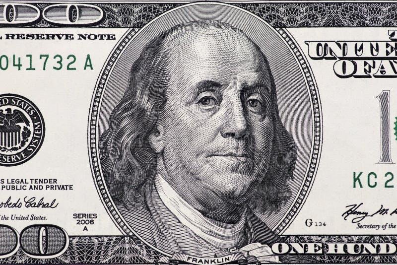 De close-up van dollars Hoogst gedetailleerd beeld van Amerikaans geld royalty-vrije stock foto's