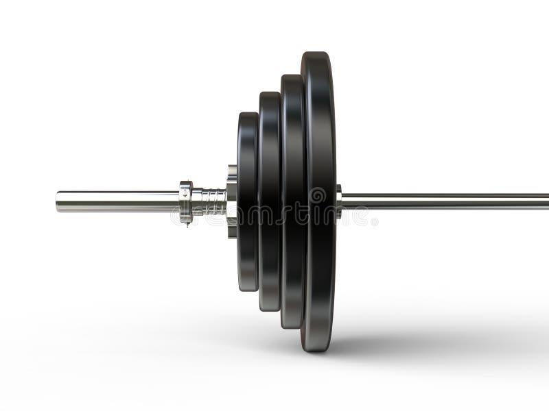 De close-up van het Barbellgewicht op gewichtsplaten royalty-vrije stock afbeelding
