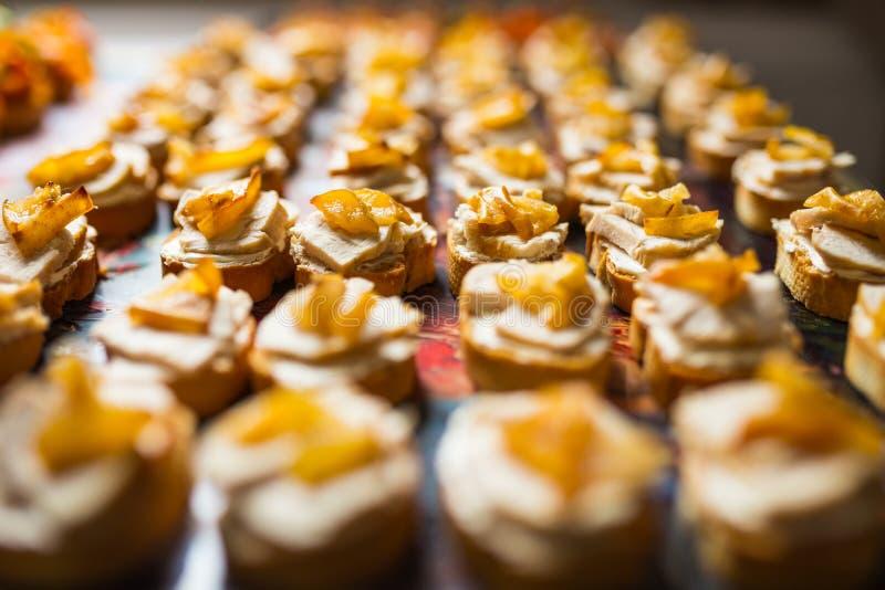 De close-up van het cateringsvoedsel royalty-vrije stock foto's