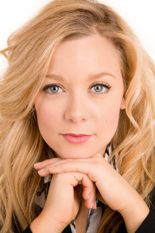 De Close-up van het gezicht van een Mooie Blonde royalty-vrije stock foto