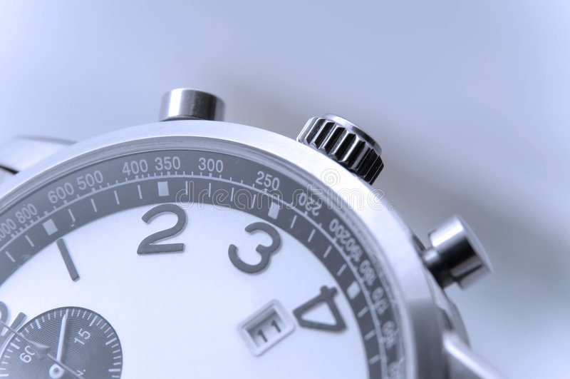 De close-up van het het horlogedetail van de hand stock afbeeldingen