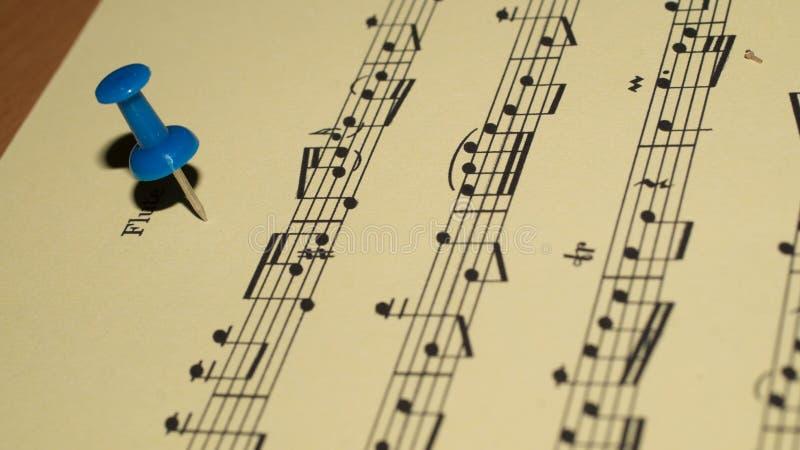 De Close-up van het muziekblad royalty-vrije stock fotografie