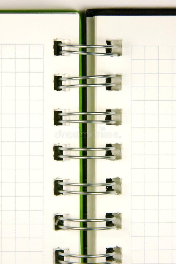 De close-up van het notitieboekje stock fotografie