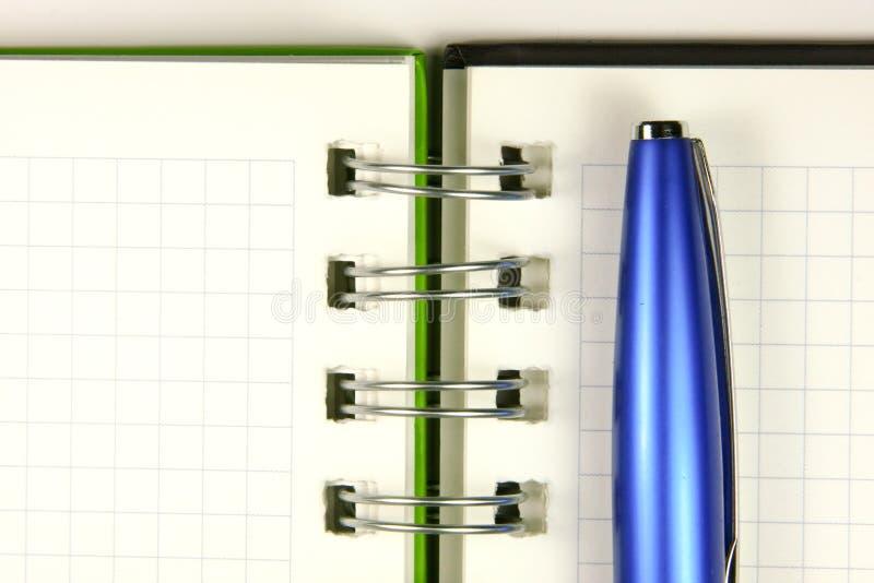 De close-up van het notitieboekje stock afbeeldingen