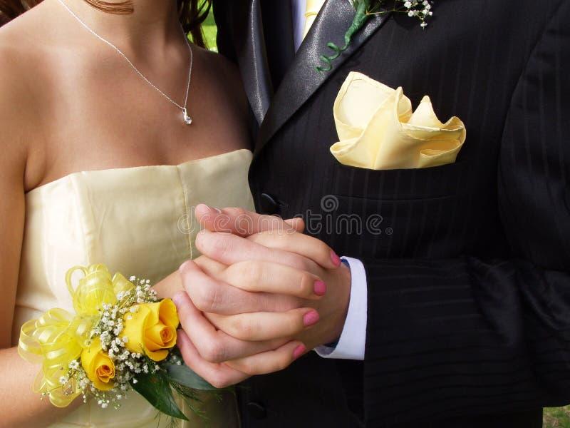 De Close-up van het Paar van Prom royalty-vrije stock foto
