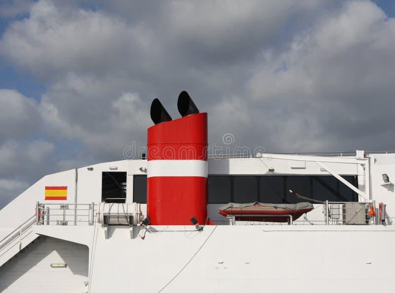 De close-up van het schip stock foto