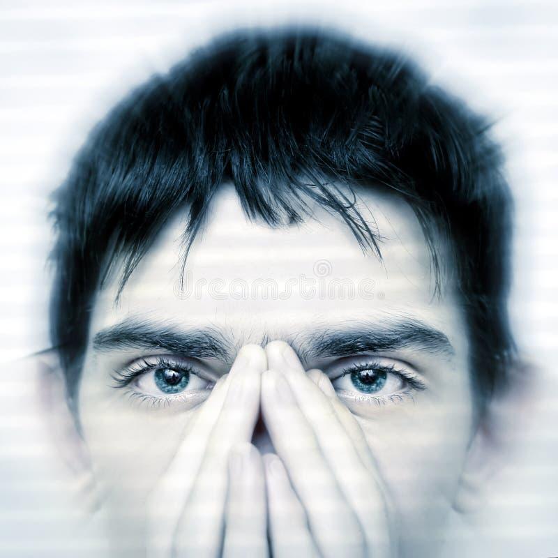De close-up van het tienergezicht stock afbeeldingen