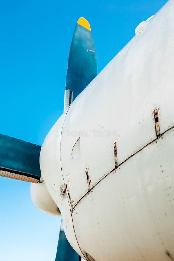 De close-up van het vliegtuiglichaam stock fotografie