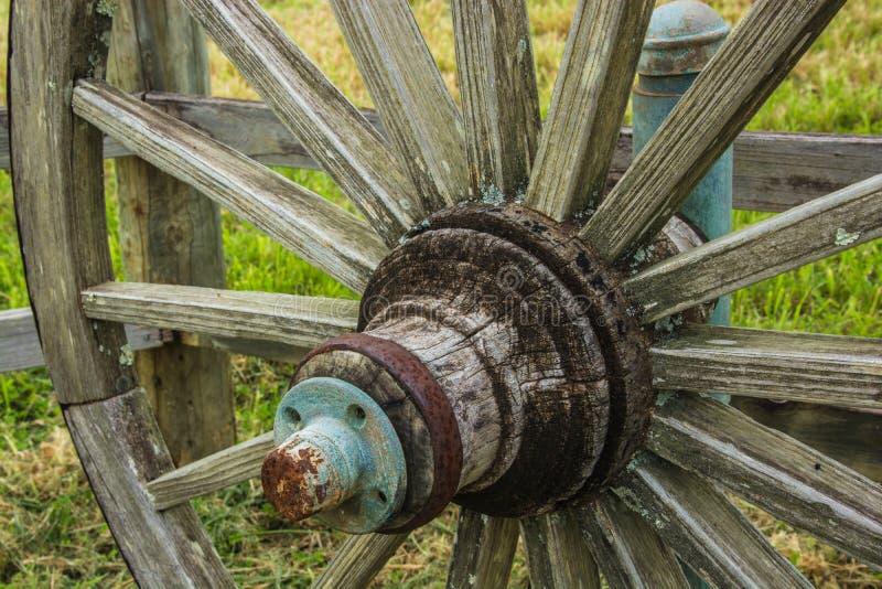 De close-up van het wagenwiel royalty-vrije stock afbeelding