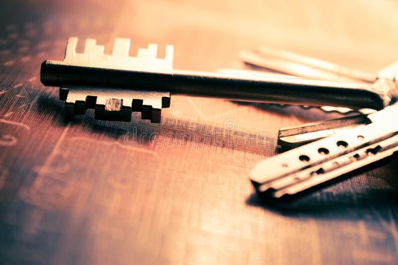 De close-up van sleutels royalty-vrije stock foto's