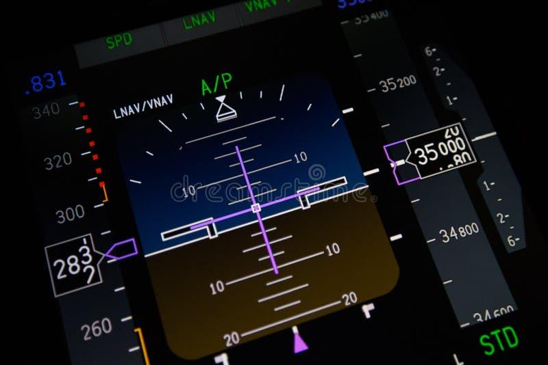 De close-up van vliegtuiginstrumenten stock afbeeldingen