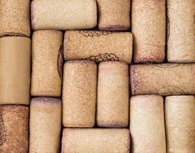 De close-up van wijn kurkt of kurken royalty-vrije stock fotografie