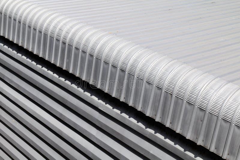 De close-updakwerk van het metaalblad van bouwnijverheids grote grootte, de materiële textuur van de Hitteisolatie voor de strali stock fotografie