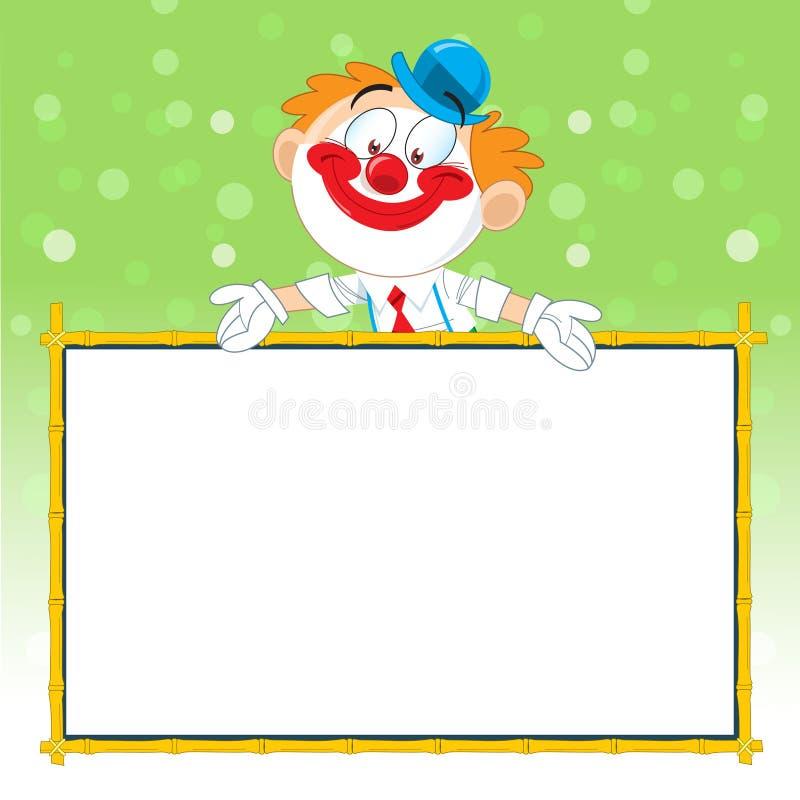De clown adverteert vector illustratie
