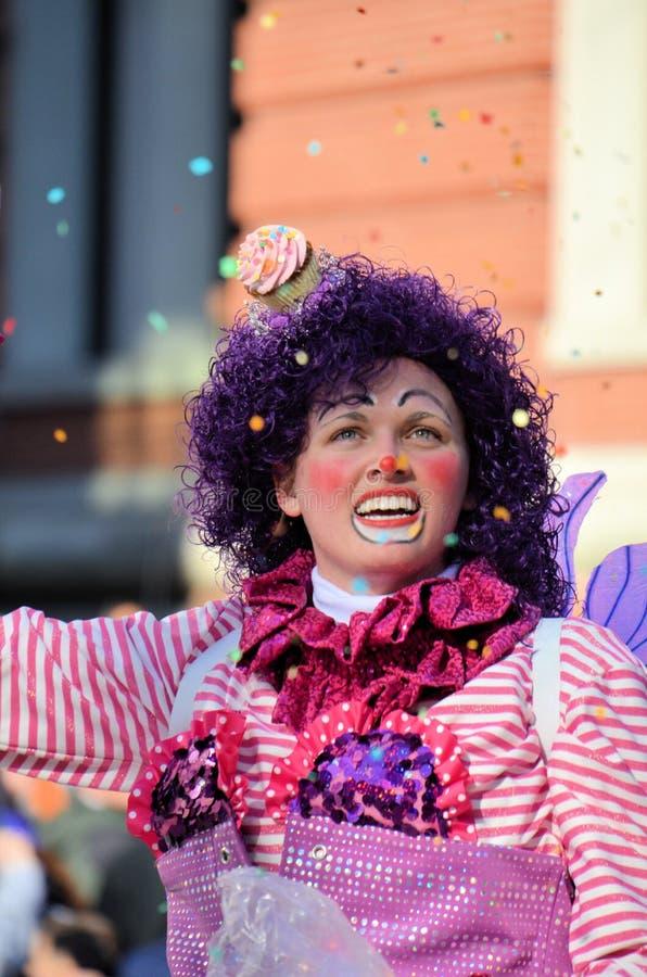 De Clown van Cupcake royalty-vrije stock fotografie