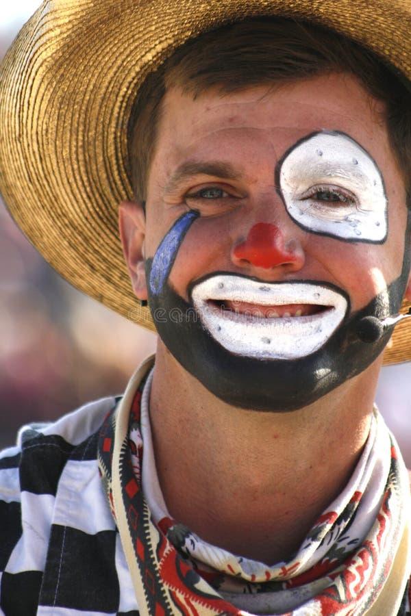 De Clown van de rodeo royalty-vrije stock afbeeldingen