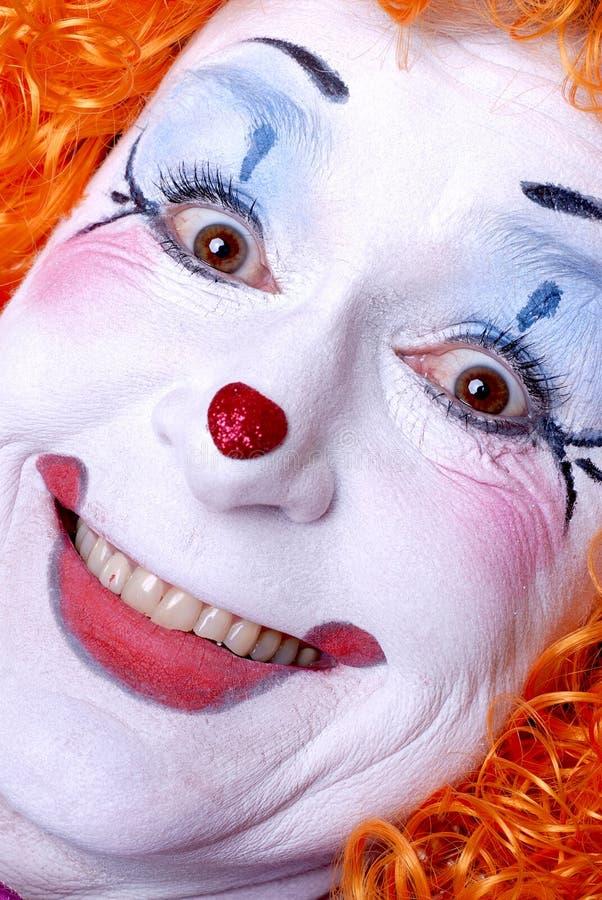 De Clown van het circus stock afbeeldingen