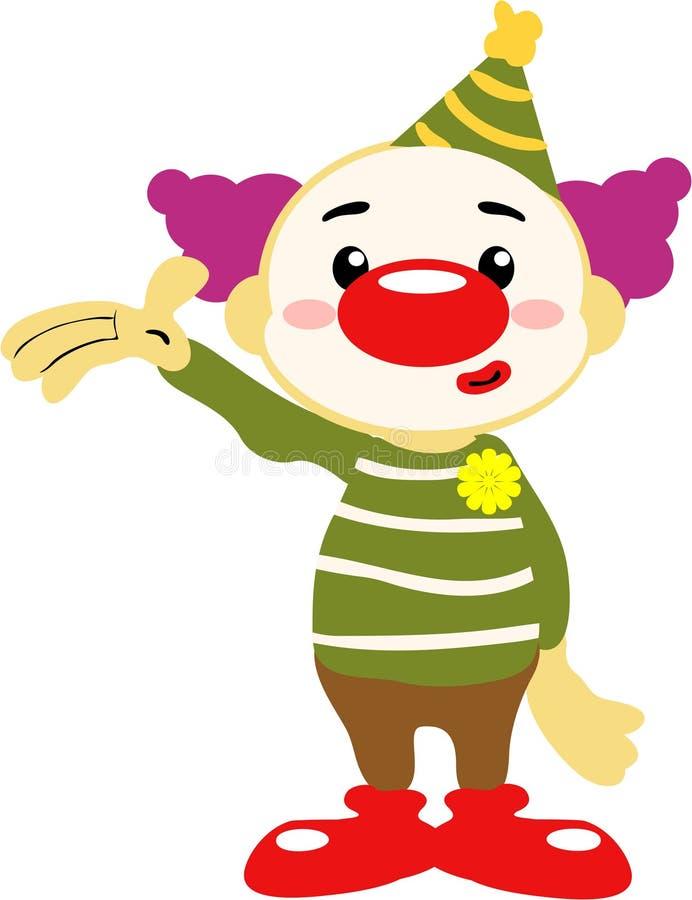 De Clown van het circus royalty-vrije illustratie