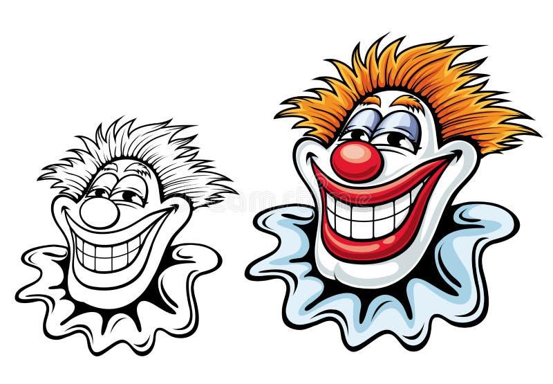 De clown van het circus vector illustratie