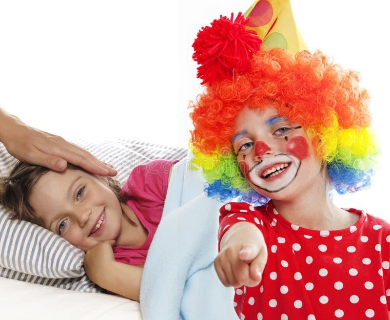 De clown van het ziekenhuis royalty-vrije stock afbeelding