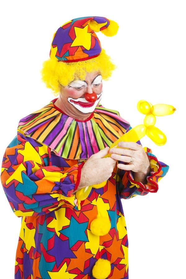 De clown verdraait Ballon in Hond royalty-vrije stock afbeeldingen