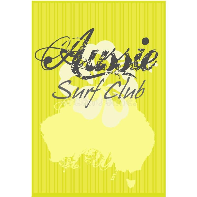 De Club van de Branding van Aussie vector illustratie