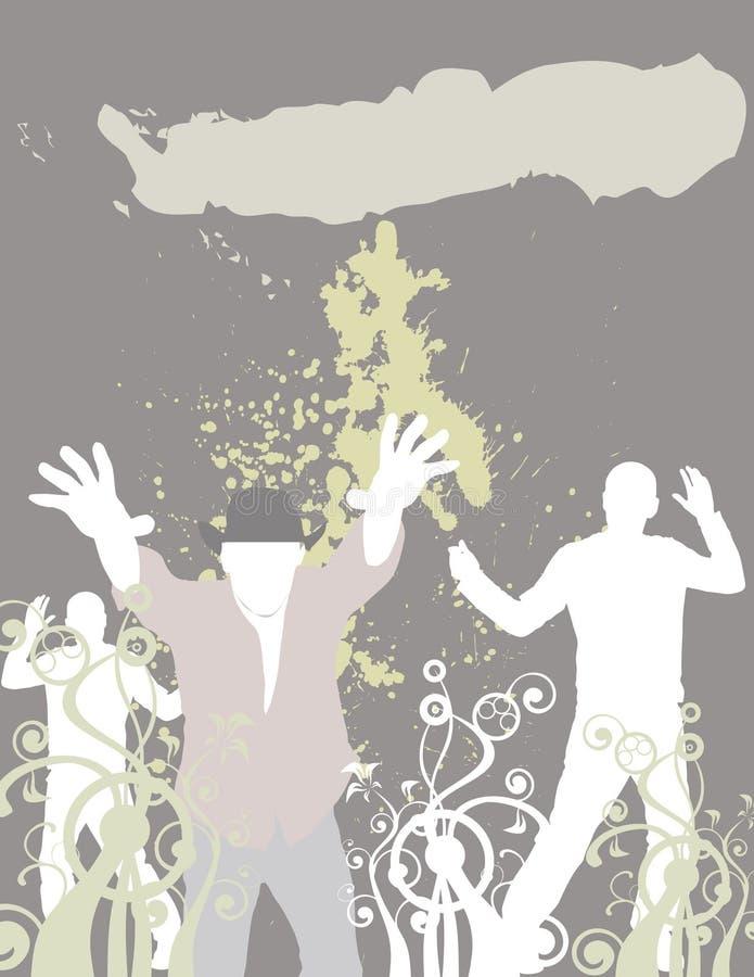 De club van de dans (plaats hier uw tekst) royalty-vrije illustratie