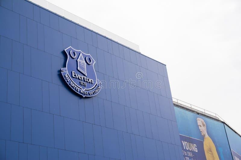 De club van de Evertonvoetbal royalty-vrije stock fotografie