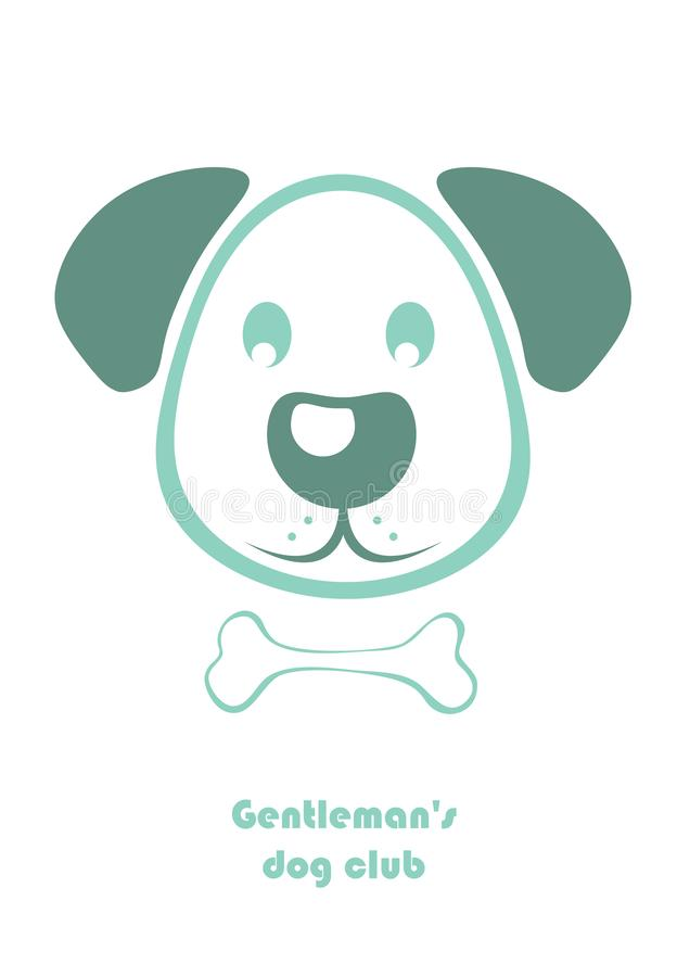 De Club van de Gentleman'shond stock illustratie