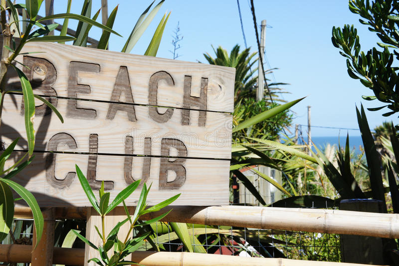 De Club van het strand stock afbeelding