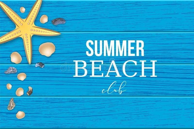 De club van het de zomer tropische strand vector als achtergrond vector illustratie