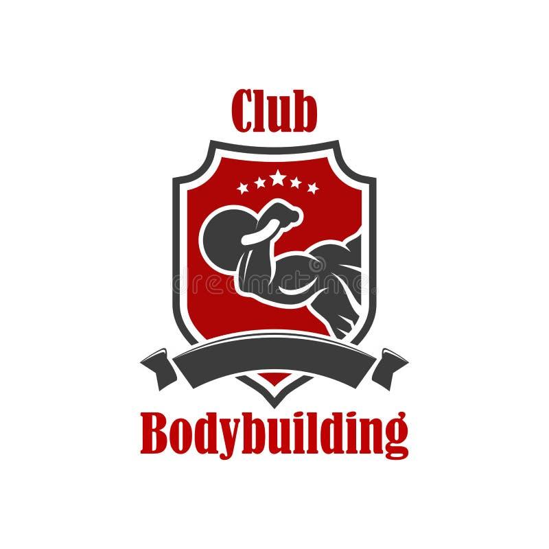 De club vectorteken van de Bodybuildingssport stock illustratie