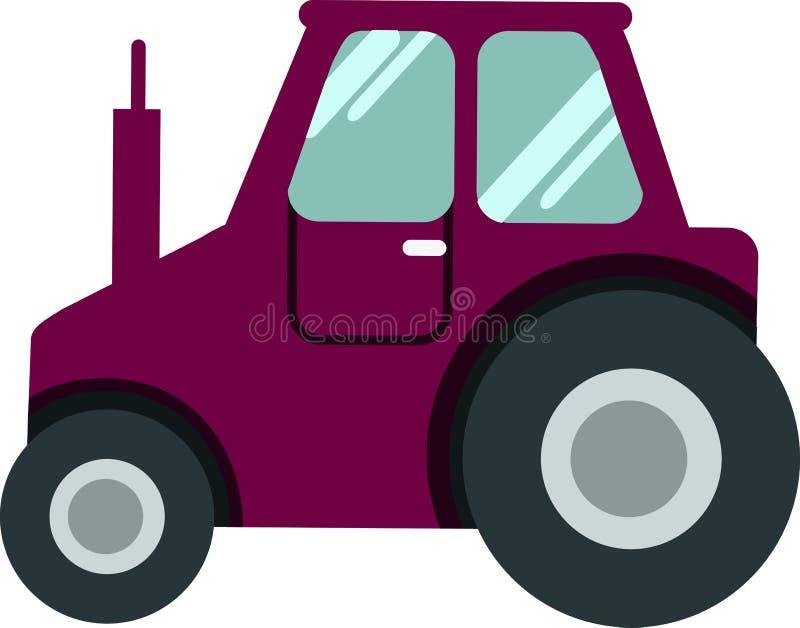 De CLUBauto van de golfauto op een witte Vector als achtergrond royalty-vrije illustratie