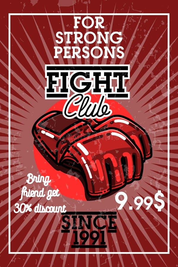 De clubbanner van de kleuren uitstekende strijd vector illustratie
