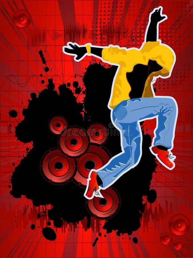 De clubbrochure van de disco stock illustratie