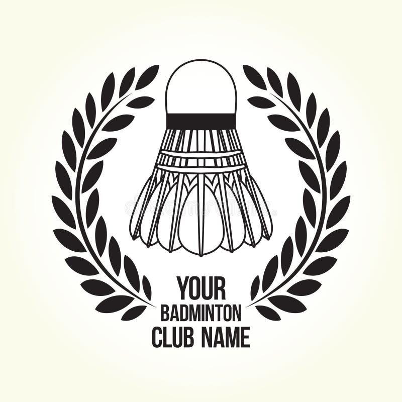 De clubembleem van het badmintonsilhouet royalty-vrije illustratie
